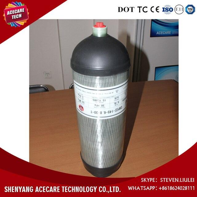 Best Selling 6.8L 30Mpa pcp 4500psi tanque de aire de fibra de carbono del tanque de BUCEO cilindro botella sin y botas-N