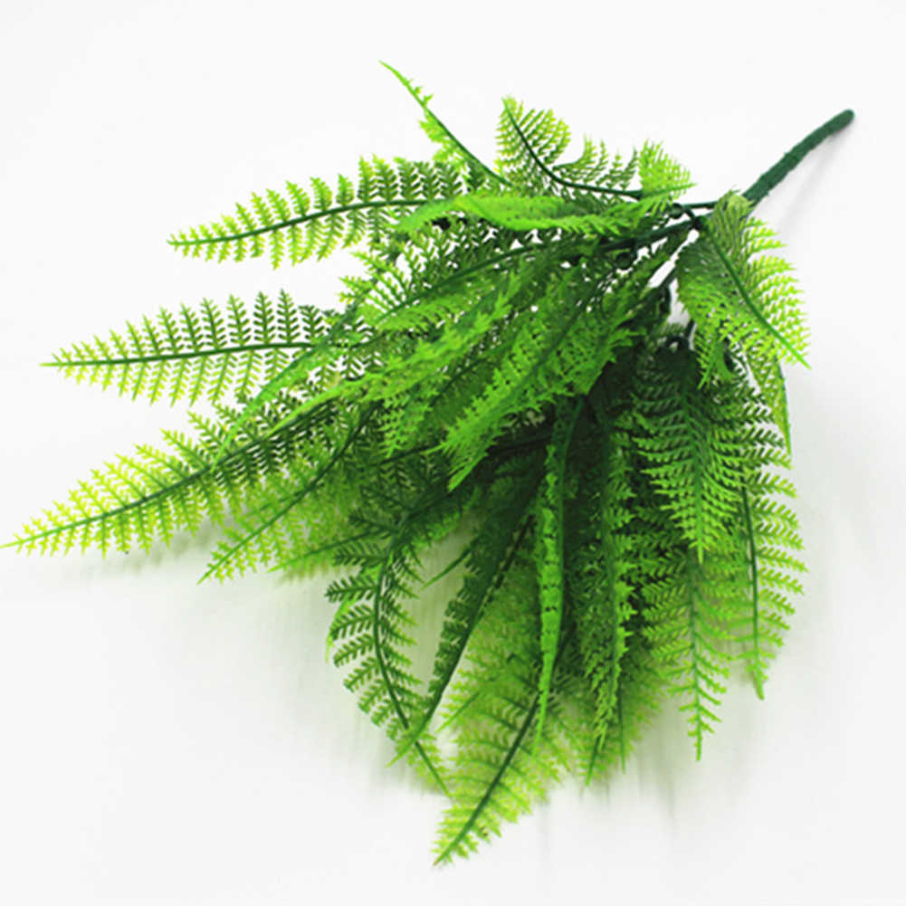 1 Pcs Artificial Plant Leaf Plastic Persian Grass Fern Simulation Fern Green Plant Potted Flower Arrangement