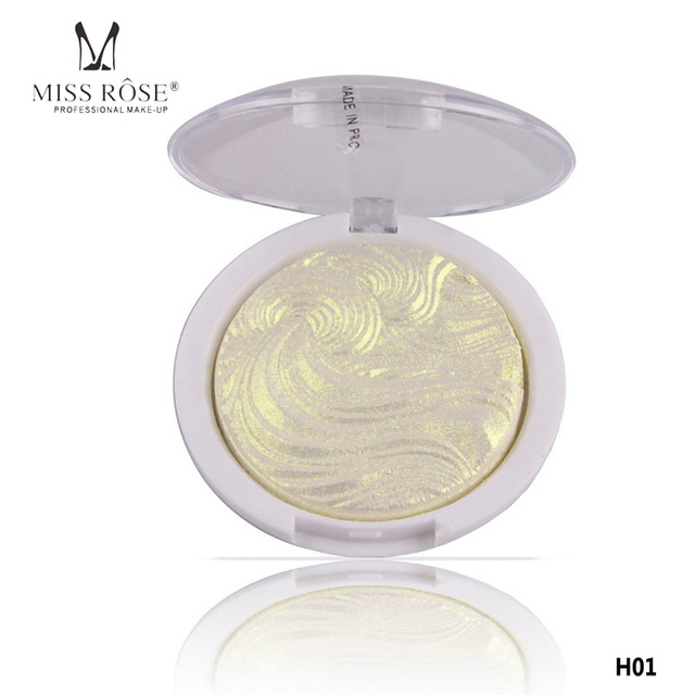 Miss Rose 3D Shimmer Pó Iluminador Base De Highlighter Palette 6 cores Bronzers Destaque Contorno Do Rosto Maquiagem