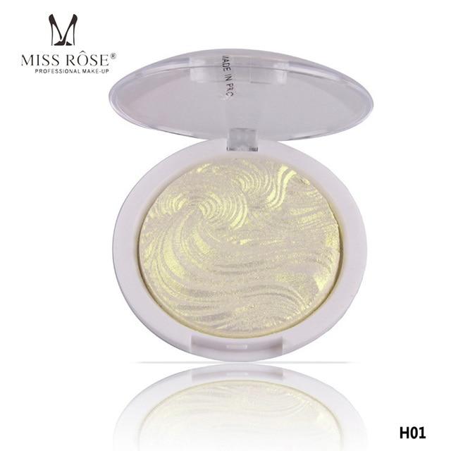Miss Rose 3D Shimmer Powder Highlighter Palette 6 colors Bronzers Highlight Contour Face Base Illuminator Makeup