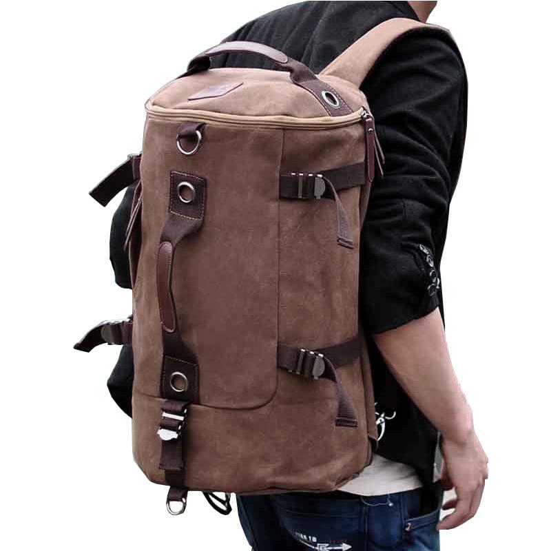 ФОТО Hot Large capacity man travel bag bicycle mountaineering backpack men bag High quality canvas bucket shoulder bag mochila A1163B