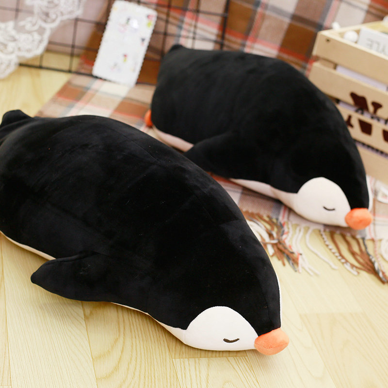 Cartoon toys 1 piece 50cm Cute black Penguin plush toys stuffed plush soft pillow baby cushion penguin doll birthday gift 30 50cm creative cute penis plush toys pillow sexy soft stuffed funny cushion simulation lovely dolls gift for girlfriend