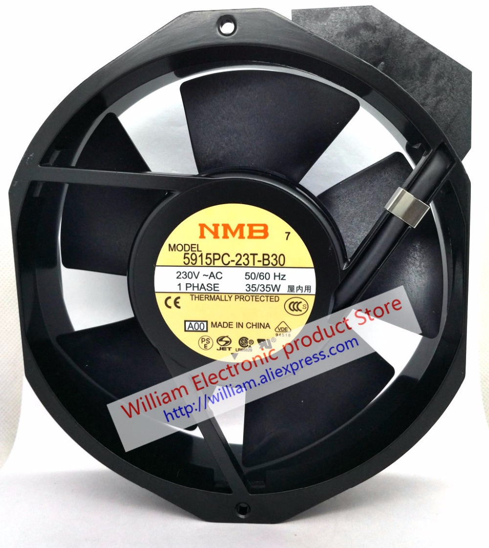 New Original NMB 5915PC-23T-B30 172*38MM AC220V 35W axial cooling fan new original nmb 9cm9038 3615rl 05w b49 24v0 73a 92 92 38mm large volume inverter fan