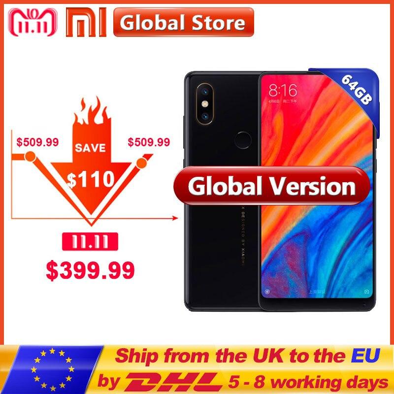 Globale Versione Xiao mi mi mi x 2 s 64 gb rom del telefono MOBILE 6 Gb Di ram snapdragon 845 OCTA core 3400 mah 5.99