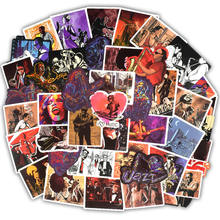 50pcs Vinyl Laptop Sticker Vintage Rock Music Computer Skin Refrigerator Suitcase Sticker For MacBook Air Pro Retina/Lenovo/HP