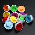 6 Pcs Ovos Cápsula Emparelhamentos Inteligente Egg Capsule Estudo Colorido Crianças Presentes do Brinquedo Inteligente Blocos Blocos Do Bebê Brinquedos Educativos