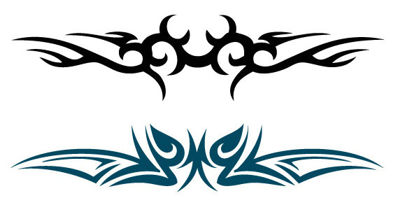 Pegatinas Tatuaje Impermeable Blanco Y Negro Hombres Y Mujeres
