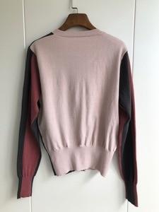 Image 2 - Cárdigan de tres colores 2019 otoño e invierno, nuevos modelos de temperamento, cárdigan tejido de manga larga, suéter de mujer