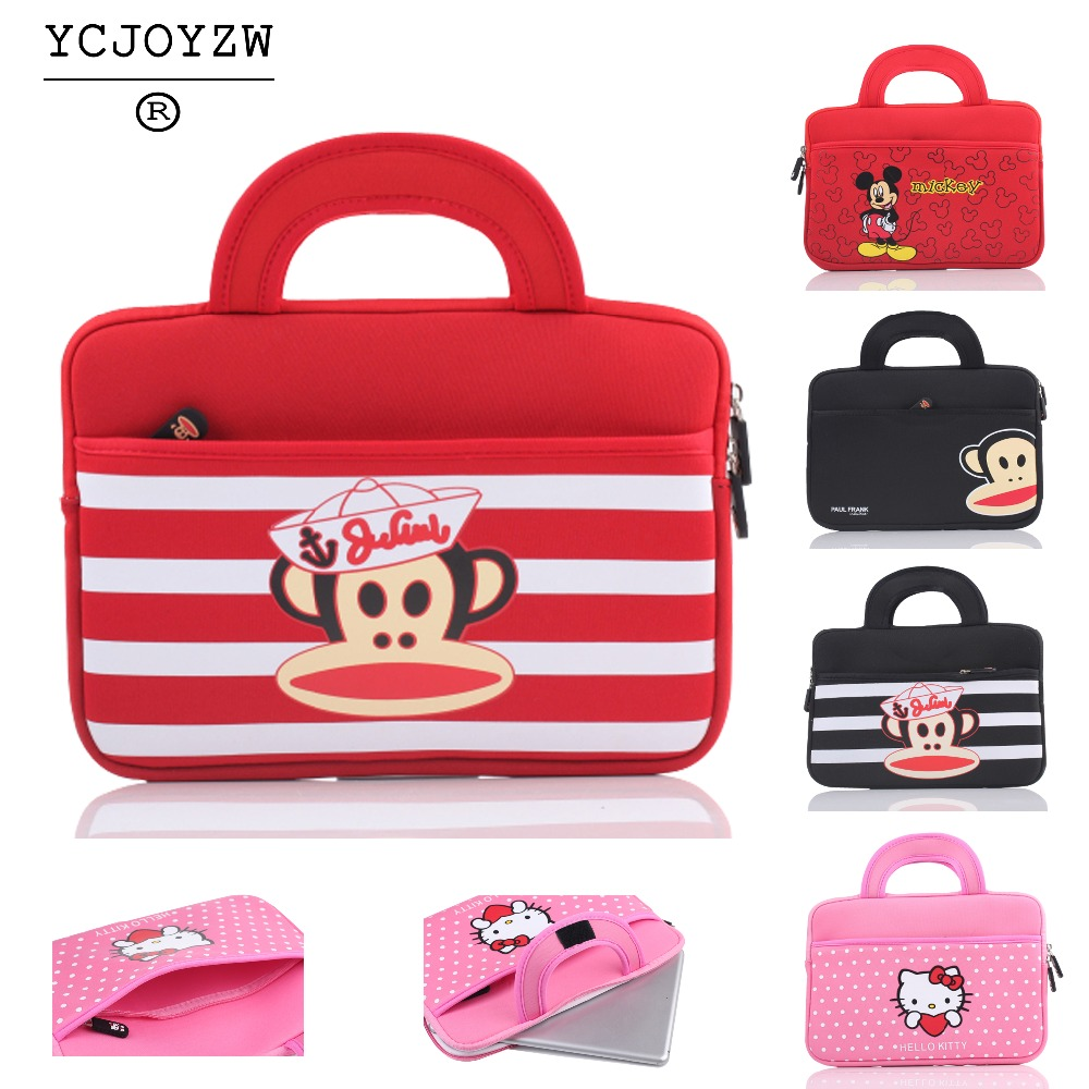 Handbag for KT Mouth monkey Mickey Tablet PC Sleeve bag 8 inch for IPAD mini 1 2 3 4 5, Tablet PC Case for Apple /Samsung /Asus