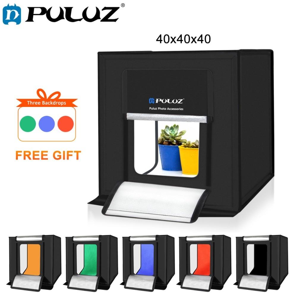 PULUZ 40 40cm 16inc Mini Photo Studio Box Lightbox Photograghy Softbox Led Photo Lighting Studio Shooting