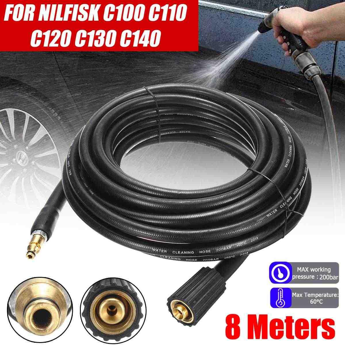 8 meter M22 Auto Thuis Tuin Water Ringen Cleaners Hogedrukreiniger Slang Water Clenaner Voor Nilfisk C100 C110 C120 c130 C140