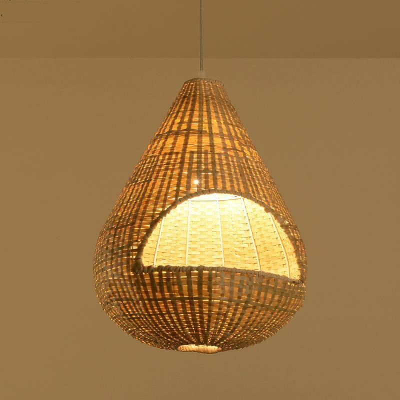 Jardin bambou pendentif lumières bois pendentif lampes restaurant magasins hôtel bar cage créative rotin lanter lampsYA7267