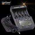 Novo v40 varicore lcd carregador de bateria para 3.7 v 18650 26650 18500 16340 14500 18350 bateria de lítio 1.2 v aa/aaa nimh baterias
