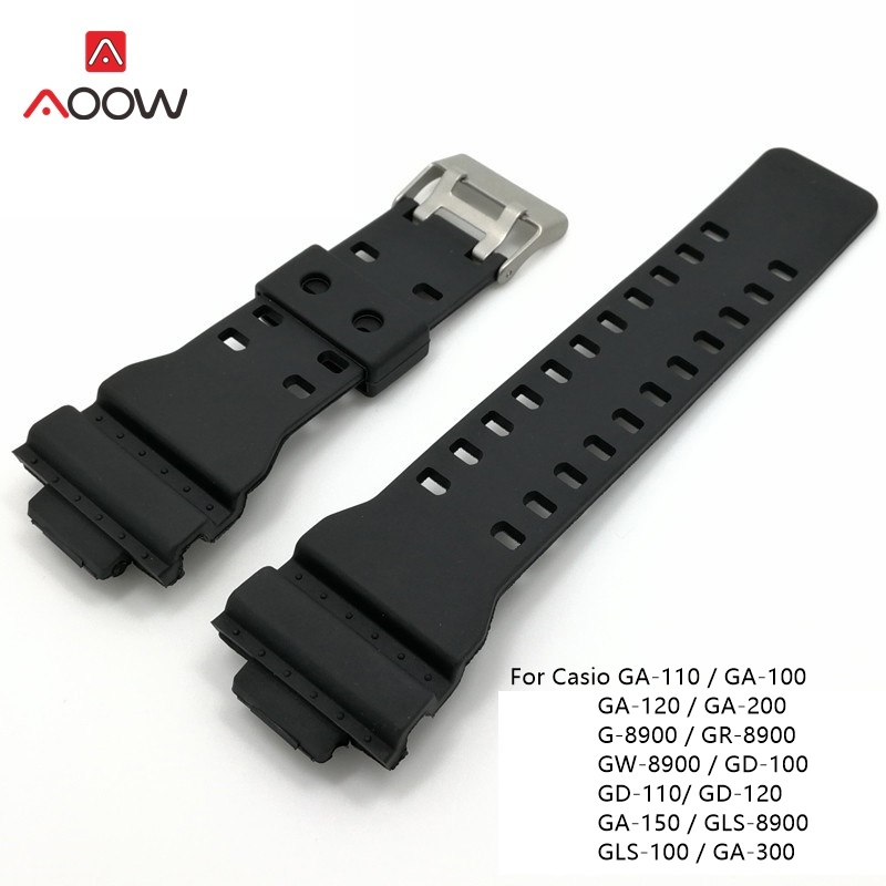 16mm Silicone Watch Strap For Casio G Shock Replacement Black Sports Waterproof Rubber Watch Belts Watchband Accessories16mm Silicone Watch Strap For Casio G Shock Replacement Black Sports Waterproof Rubber Watch Belts Watchband Accessories