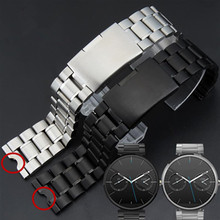 22mm New Mens Stainless Steel Watchbands Bracelet for Moto 360 Smart Watch Band Moto360+Tool цена