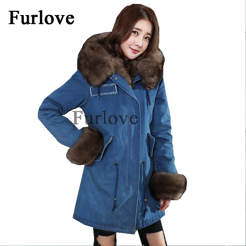 Womens Winter Jacket Women Coat Real Fox Fur Collar Casual Vintage Coats Removable Fur Thick Parka Hooded Parkas Long Jackets winter coat women womens jackets natural raccoon fur collar hooded jacket real fox fur parka thick coats casual long warm parkas