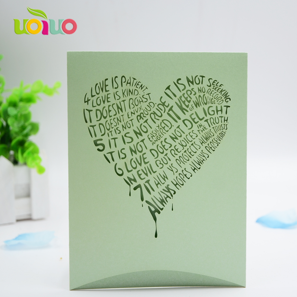 Apple Green Wedding Invitations: Green Apple Color Customized Wedding Invitation Cards