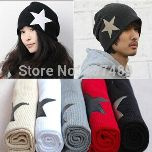 men's ladies' fashion star knitted hat Beanies Cap Autumn Spring Winter lover unisex multi color option whcn+ ladies s fashion colorful fur ball leisure knitted hat beanie cap autumn spring winter multi colors option