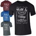 Verano (UN AÑO) hecho en 1966 1976 1986 T Camisa de Los Hombres Nacidos 30a 40a 50a Años de Edad Cumpleaños Presente Regalo Divertido de La Vendimia Camisa Tee