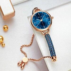 Image 1 - Kimio Simple Women Bracelet Watch Ladies Diamond Crystal Band Quartz Watches Fashion Luxury Waterproof Wristwatch 2019 New
