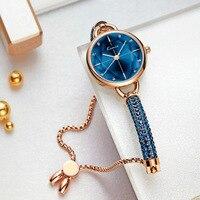 Kimio Simple Women Bracelet Watch Ladies Diamond Crystal Band Quartz Watches Fashion Luxury Waterproof Wristwatch 2019 New