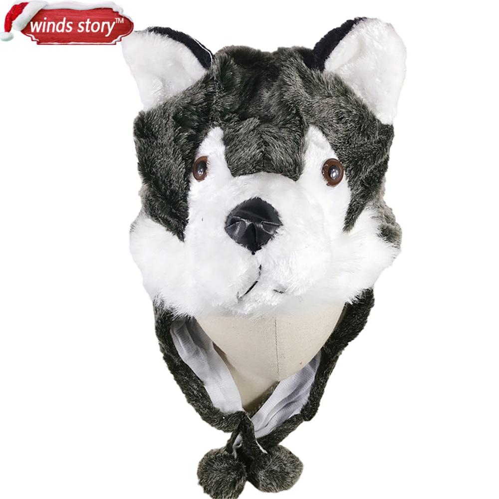 NUEVO 1 UNIDS Cartoon Animal Hat Fluffy Felpa Gorra Orejera Unisex - Para fiestas y celebraciones - foto 2
