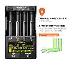 Carregador de bateria liitokala, lii 500S lcd 3.7v 1.2v 18650 26650 21700 com tela, teste a capacidade da bateria controle de toque