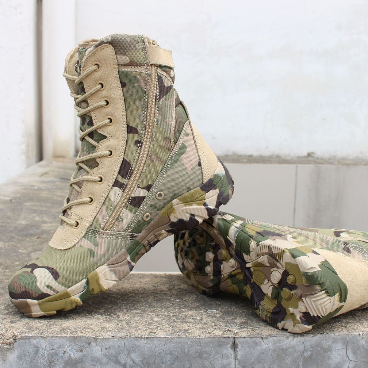 Outdoor Tactical Men Women Hunting Camouflage Non slip Magnum High Tube Military Shoes Sports Army Climbing