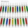 4PCS/lot Liquid Novelty Syringe Ballpoint Pen Cute Stationery Kawaii Ballpen School Supplies Child Gift
