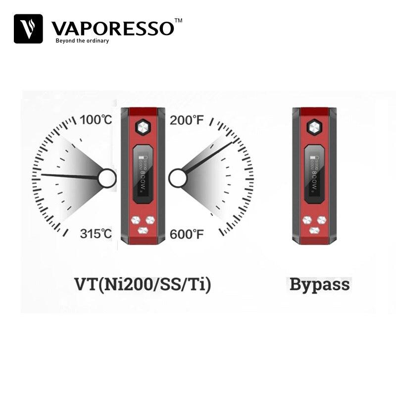 Original Vaporesso Tarot Nano 80 W TC Box Mod 2500 mah Fit vapeo tanque vaporizador cigarrillo electrónico del Voopoo arrastrar Vape Mod caja - 5