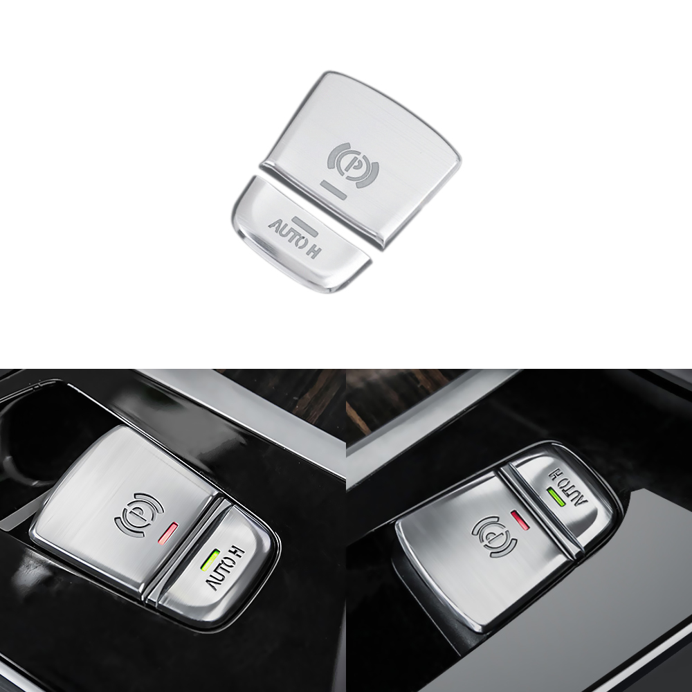 2pcs Car Parking Brake Button Trim Cover Car Styling for <font><b>BMW</b></font> 5 Series <font><b>G30</b></font> G38 528i 530i <font><b>540i</b></font> Hold Button Sticker Accessories image