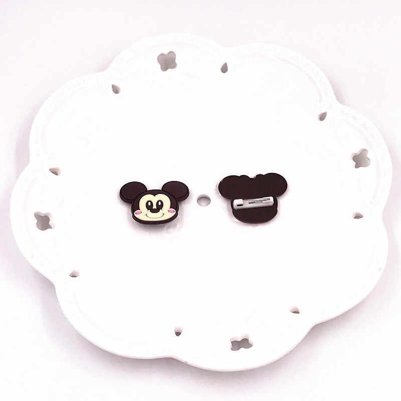 1Pcs Mickey Donald Minnie Daisy Marie Cat Kartun Ikon Pin Di Ransel Pakaian Lencana Bros Anak-anak DIY aksesoris