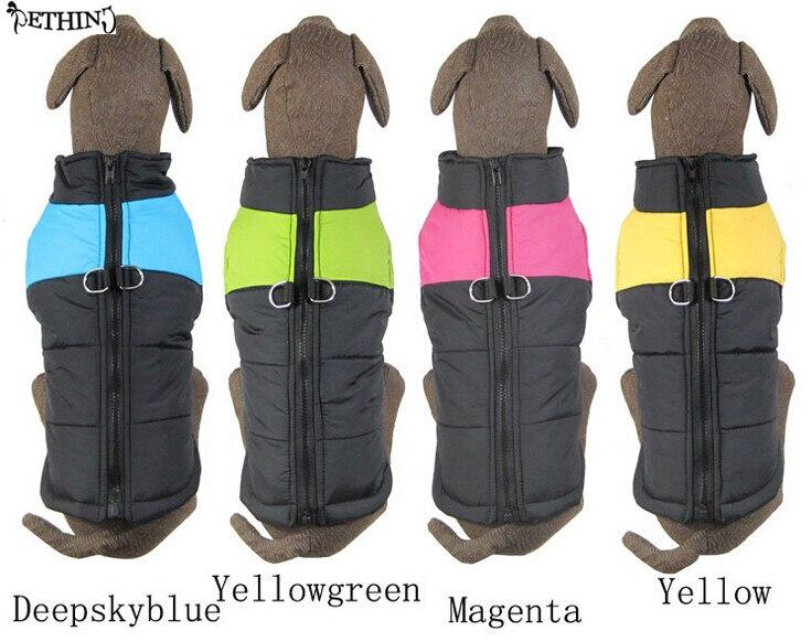 Winter quilted coat Hottest Sale 4 Color Pet Dog Clothes XS 4XL Large Dog Vest Poppy