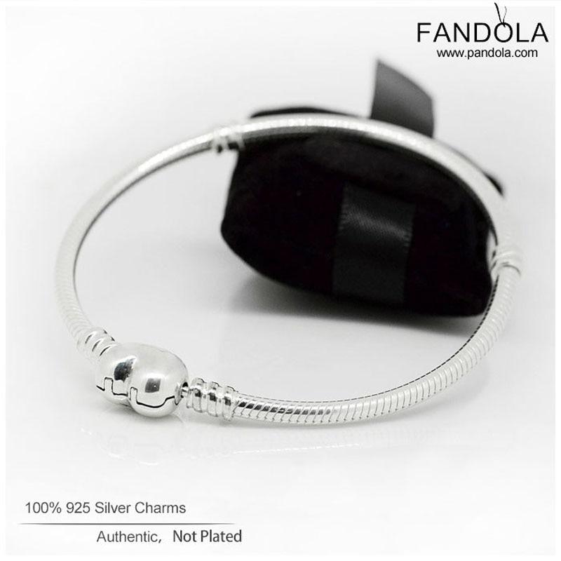 CKK Heart Clasp Bracelets Argent 925 Sterling Silver Love Charms Bangle Bracelets for Women Fit Bead Charm DIY Jewelry Making
