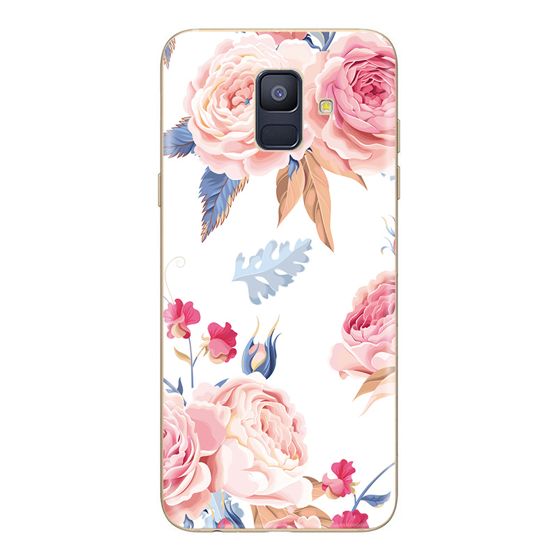 Case For Samsung Galaxy A5 A6 A8 A7 2017 Plus 2018 J3 J4 J5 J6 J7 S9 S8 S7 Plus Phone Case Flower TPU Soft Silicone Back Covers