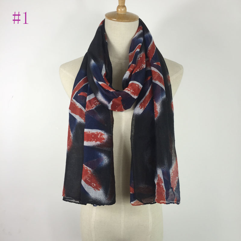 Beautiful high fashion pretty flag printed viscose   scarf     wrap   shawl