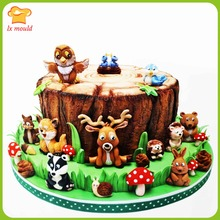 Platinum silicone baking mold cartoon animal forest flowers cake dessert class decoration tools