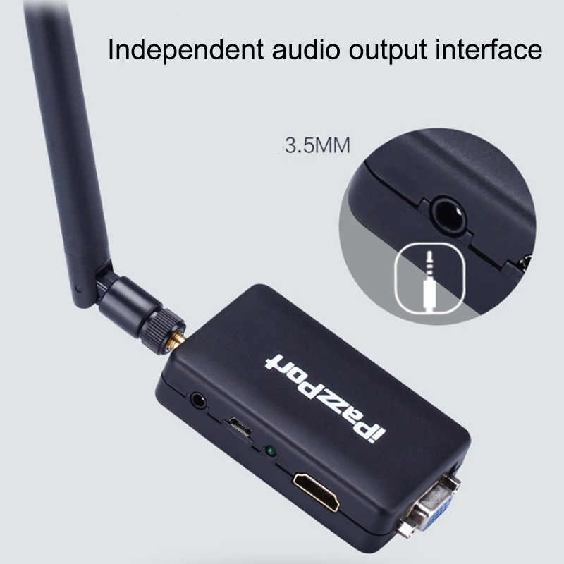 Không Dây WiFi TV Dongle VGA + HDMI HD Transmitter Push Kho Báu Airplay Chiếu 2.4G + 5G kép tần số dongle 2 GB Bộ Nhớ