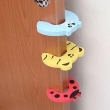 5pcs Children & Baby EVA Safety Door Clips Cartoon Shaped Kids Security Protection Door Holders Stop the Door Hurt Baby Fingers