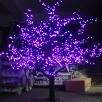 1.5Meters 624LEDS purple christmas festive lights bloom led tree of outdoor tree lighting garden decoration Asia