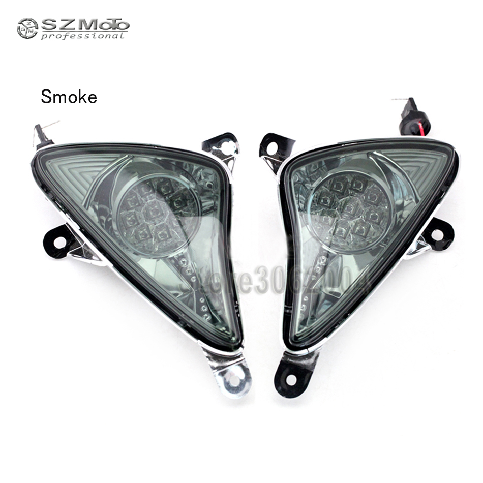 For YAMAHA TMAX T MAX 500 2001 2007 Front LED Turn Signal Indicator Light Motorcycle Blinker Lamp|  - title=
