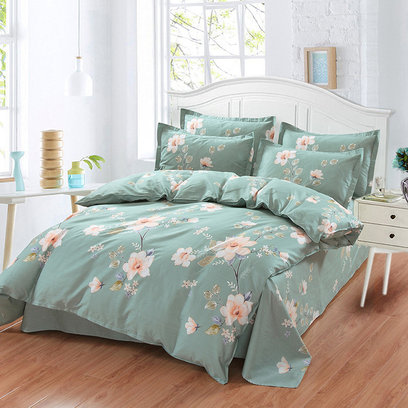 Morning glory Beddingoutlet flowers  4pcs Bedding Sets Bed Sheet Duvet Cover Pillowcase Bedclothes Good quality and good saleMorning glory Beddingoutlet flowers  4pcs Bedding Sets Bed Sheet Duvet Cover Pillowcase Bedclothes Good quality and good sale