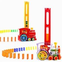 Домино поезд автомобильный набор мост колокольчик набор красочные пластиковые блоки домино стикер Развивающие детские игрушки милый подарок на день рождения TOY062