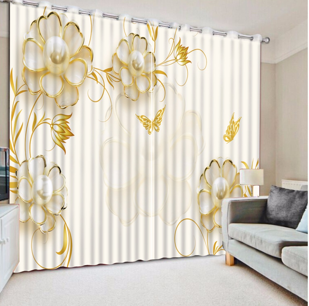 Modern Luxury 3D Photo Printing Blackout Window Curtain beautiful 3D Curtains For Living room Bedroom Home Decoration -in Curtains from Home & Garden ...
