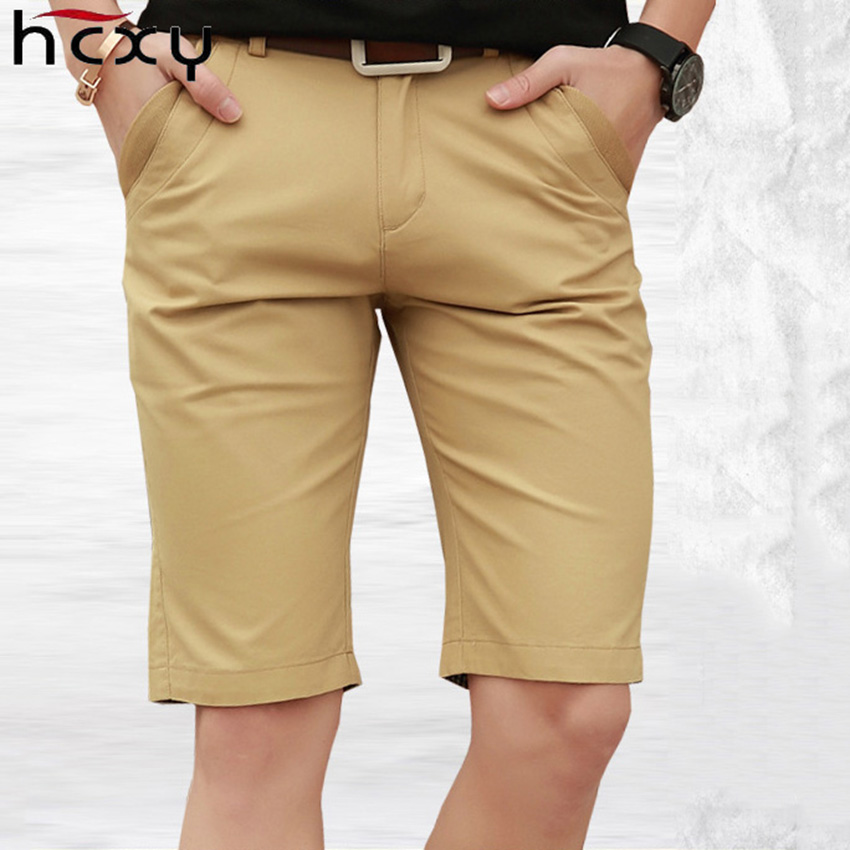 HCXY 2018 Summer high quality Mens Shorts Casual Bermuda Brand Male Solid Color Cotton Cargo Shorts Men Fashion Man Beach Short