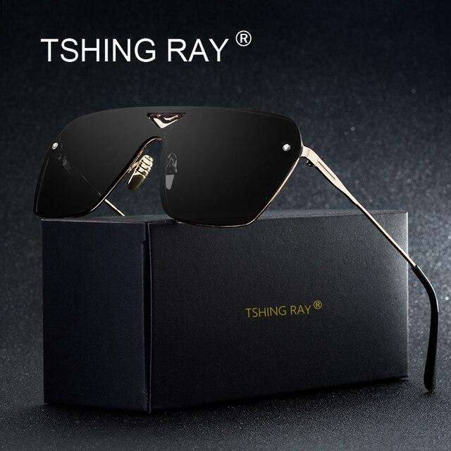 Connu TSHING RAY Carré Sans Monture Conduite lunettes de Soleil Hommes  VW41