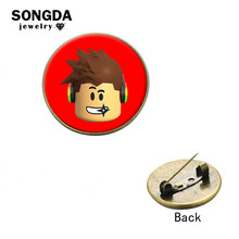 SONGDA Roblox Cool Boy Pins Button Brooches Cute Hot Game Series 6 Style Decorated Pins for Hat Backpack School Bags Accessories(China)