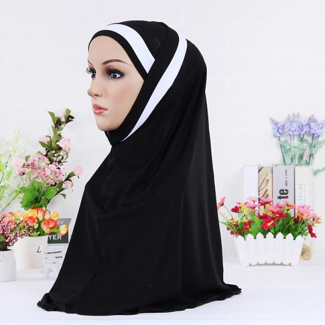57*57cm Muslim hijabs ladies casual skull scarf soft women's under islamic inner cap 12 colors