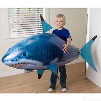 RC Air Swimming Fish Toys Drone RC Shark Clown Fish Balloons Nemo Inflatable With Helium Plane