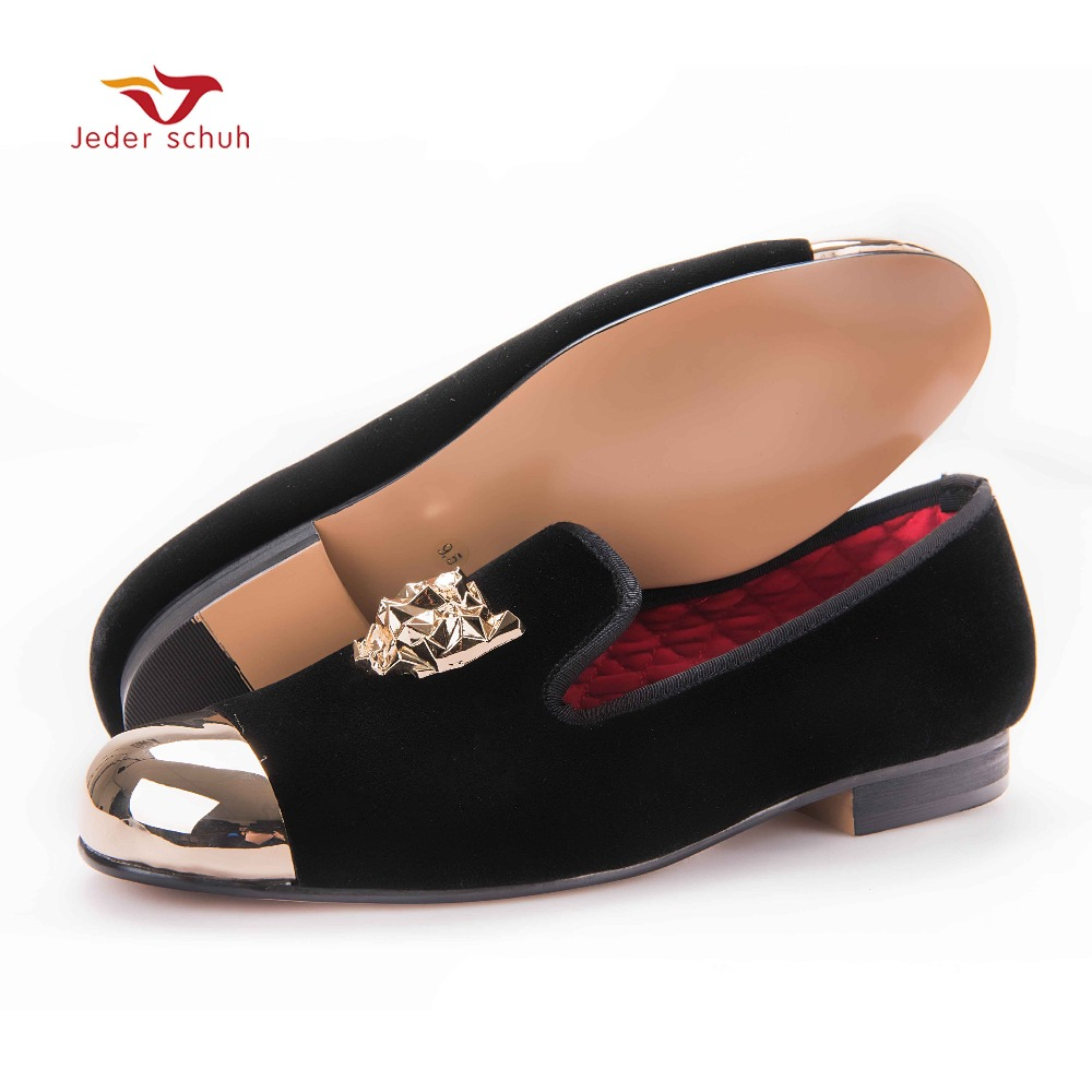 men loafers New style tiger buckle with gold toe men velvet shoes handmade party and wedding luxury  men dress shoe men's flats loafers men india golden silk weaving pattern crown and leaf design flats velvet shoes men loafers noble temperament